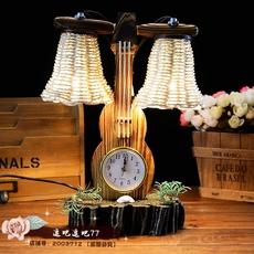 木质复古卧室装饰品床头灯书房创意田园风台灯小夜灯摆件生日礼物