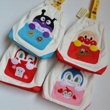 日系婴幼儿奶瓶尿片收纳袋外出  面包超人帆布束口推车悬挂式收纳
