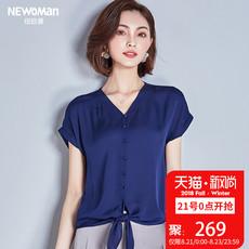 重磅真丝上衣女桑蚕丝短袖 衬衫 杭州丝绸女装 2018夏季新款 处理清仓