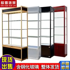 欣雪珠宝柜台化妆品陈列柜精品手机配件展示柜玻璃货架展示架定制