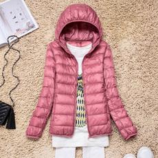 反季正品清仓特价冬装新款薄款羽绒服女轻薄短款连帽断码处理外套