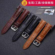 真皮表带代用天王美度ck浪琴卡西欧天梭dw男女针扣手表带表链配件