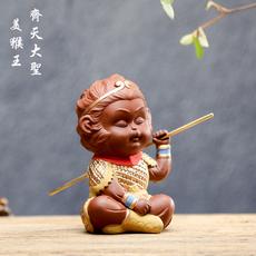精品陶瓷猴子齐天大圣孙悟空 茶具紫砂茶宠茶道茶玩家居装饰摆件