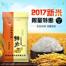 正宗东北盘锦蟹田大米10kg 2017新米 20斤珍珠米寿司粳米农家自产