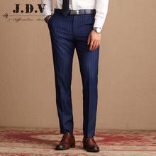 西装 条纹西裤 2018秋商场同款 JDV男装 商务休闲直筒西服男长裤