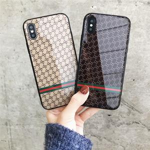 苹果8plus手机壳iPhoneX奢华玻璃镜面6s/7硅胶套防摔欧美男女款潮苹果手机壳