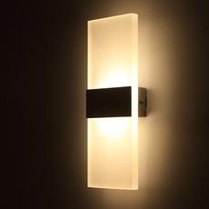 壁灯LED卧室客厅走廊过道墙壁灯个性楼梯间灯现代简约创意床头灯