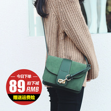 包包女2017新款潮韩版简约百搭斜挎包小包个性时尚单肩撞色小方包