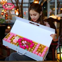 送女友浪漫创意心形生日38妇女节礼物女生 情人节德芙巧克力礼盒装