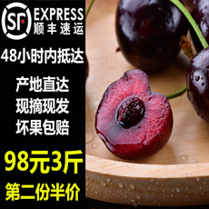 现摘新鲜水果黑珍珠烟台福山大樱桃非智利车厘子大连樱桃顺丰包邮