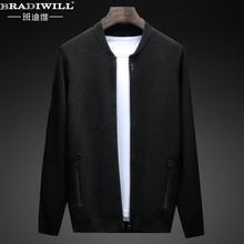 外套男士 秋季针织衫 韩版 纯色拉链青年修身 开衫 薄款 毛衣男装 线衣潮