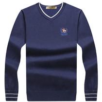 套头针织羊毛衫 加厚毛衣男V领冬季青年商务修身 线衣保罗男打底衫