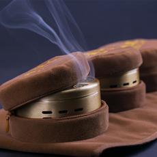 平直堂艾灸盒随身灸纯铜温灸器无烟艾灸衣家用十年陈艾柱艾灸条