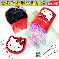 韩国儿童橡皮筋宝宝扎头发一次性发圈不伤发女孩黑头绳皮套发饰品