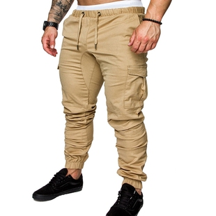 мужские  брюки Male Pants Slim Khaki Men Joggers