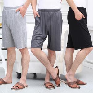 夏季睡裤男短纯棉宽松薄款男士家居短裤大码全棉居家莫代尔大裤衩男士睡裤