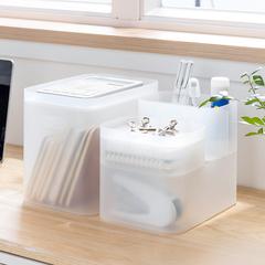 纳川桌面透明小塑料护肤品化妆储物盒办公自由组合首饰收纳整理盒