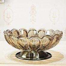 饰器皿摆件欧式果盘酒店 水晶玻璃烟灰缸小家居饰品KTV餐桌茶几装
