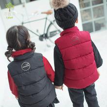 植木童装儿童加厚保暖马甲冬季2018新款男女童兄妹装棉服日系背心