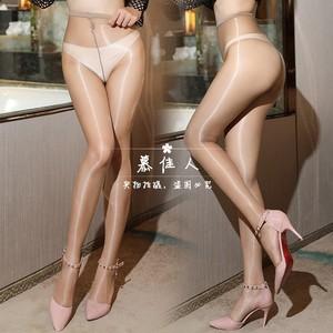 一线裆油亮丝滑连裤袜夏薄款油光打底袜春闪光丝袜情趣男女袜