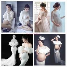 孕妇亲子照写真拍照服装 白色孕味妈咪照影楼主题孕妇摄影服装 新款