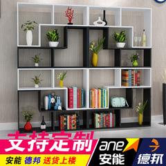 简易书柜书架现代简约客厅隔断玄关柜置物架格子柜创意落地收纳柜