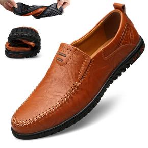 秋季男士软底休闲皮鞋软皮套脚豆豆鞋