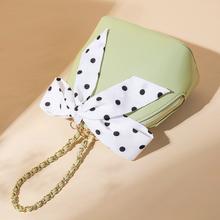 圆形包包女包 高级感洋气时尚 丝巾小贝壳包链条手提斜挎2019夏新款