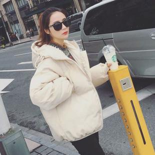 冬棉服oversize女学生2018新款韩版宽松bf短款chic面包服棉衣外套
