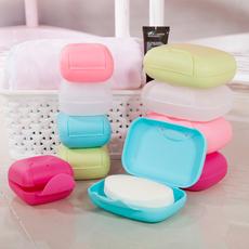 塑料带锁扣旅行肥皂盒 迷你便携香皂盒 创意带盖密封皂盒 特价