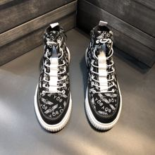 新款 街头流行鞋 2018秋季新款 男鞋 欧洲站新款 高帮男鞋 休闲英伦男鞋