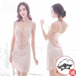 性感情趣内衣服吊带镂空睡裙三点式紧身透视装制服女激情套装用品