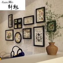 轩魅守菊掌墙现代简约相片墙家居背景墙装 饰组合相框创意相框墙