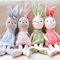 超萌小萌兔婴儿安抚玩偶兔子陪宝宝睡可爱兔公仔毛绒玩具韩国布偶