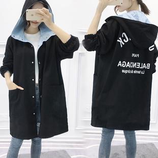 秋冬季韩版bf中长款加厚两面风衣女原宿风学生宽松双面穿棉服外套