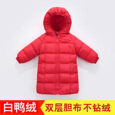 新款儿童羽绒服中长款宝宝冬装男女童小童加厚童装婴儿1-3-6岁