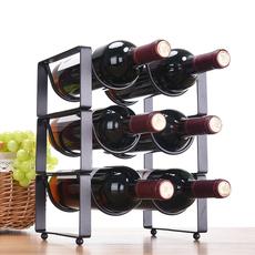 现代简约叠加红酒架摆件酒瓶架酒柜铁艺创意葡萄酒架子客厅落地