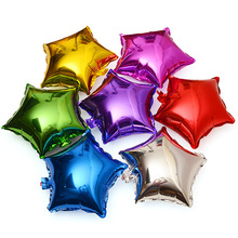 Christmas 10-inch 18-inch Pentagonal Star Aluminum Film Balloon Party Supplies Birthday Wedding Decorative Balloon