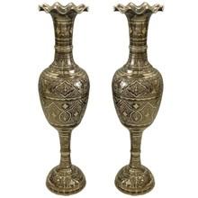 一米彩点米尔式瓶巴基斯坦铜器特色海外工艺品铜花瓶家居摆件