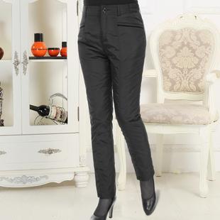 新款中老年羽绒裤女外穿加厚高腰老人棉裤直筒显瘦妈妈女裤冬大码
