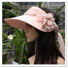 帽子女夏天韩版遮阳帽女可折叠骑车太阳帽沙滩帽大沿防晒帽 Siggi