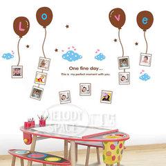 可移除墙贴 放飞记忆 卡通儿童房背景照片墙 墙壁贴纸X1020