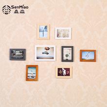 森淼 实木照片墙卧室小墙面相框墙 家居装饰相册框创意儿童相片墙