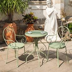 阳台桌椅三件套铁艺桌椅户外桌椅休闲桌椅咖啡厅桌椅组合彩色桌椅