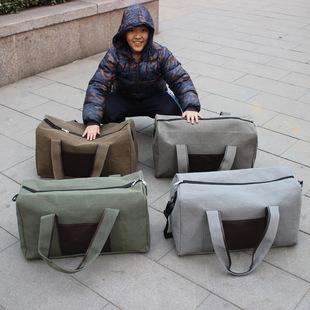 韩版帆布包 旅行包 行李包 手提工具包 休闲打工男包单肩包大容量