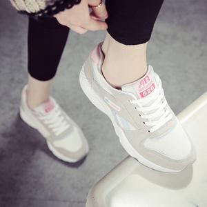 陌瑶2017春季韩版运动鞋女鞋跑步鞋休闲鞋系带平底女板鞋潮学生鞋运动鞋女