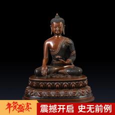 盛凡 开光纯铜三宝佛释迦牟尼尼泊尔三世佛像密宗佛教佛堂用品