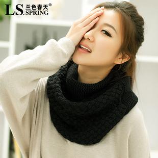 新款韩版毛线围巾套头围脖女冬天脖套韩国秋冬季加厚学生围巾围脖