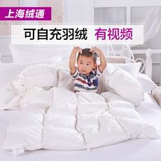 儿童羽绒被婴儿95白鹅绒被子 新生儿抱被宝宝纯棉幼儿园被芯定制