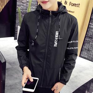 外套男2017春季新款潮流韩版帅气男生薄款青少年男装修身夹克春装上衣外套男